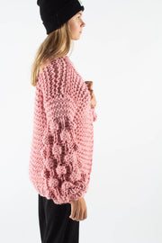 Alexandra Bubble Knit Cardigan - Rose - irréel