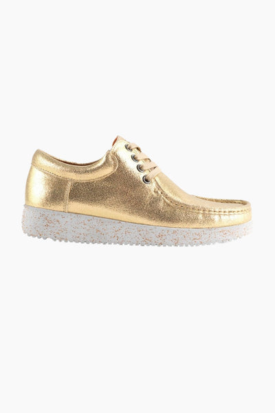 Anna Metallic Leather - Gold - Nature Footwear