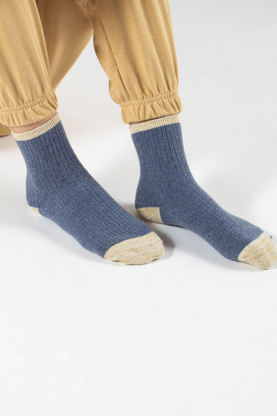 Asma socks - Blue/Gold - irréel