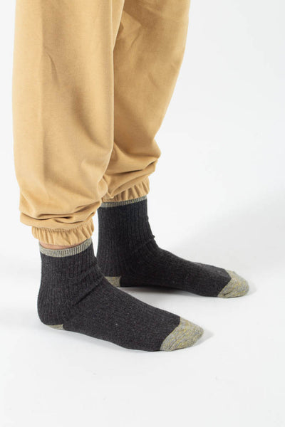 Asma socks - Grey/Gold - irréel