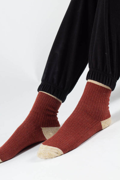 Asma socks - Red/Rose - irréel