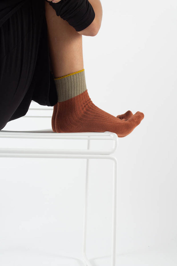 Asma socks - Orange/Green- irréel