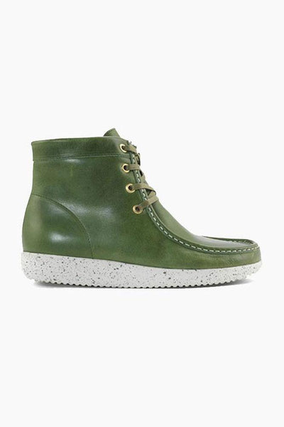 Asta Pull Up Leather w. Fur - Forest - Nature Footwear