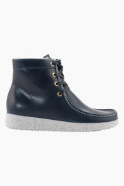 Asta Pull Up Leather w. Fur (CF) - Petrol - Nature Footwear
