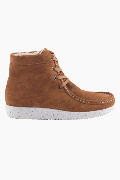 Asta Suede WR w. Fur - Toffee - Nature Footwear