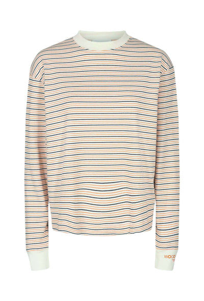 Astrid Long Sleeve - Off-white stripe - Wood Wood