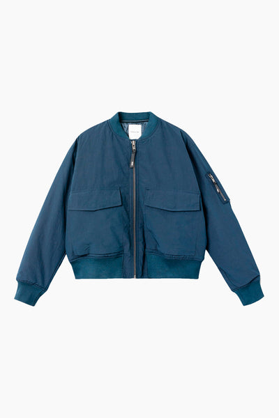 Athene Compact Nylon Jacket - Navy - Wood Wood