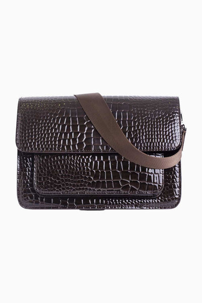 BASEL CROCO - Dark Brown - Hvisk