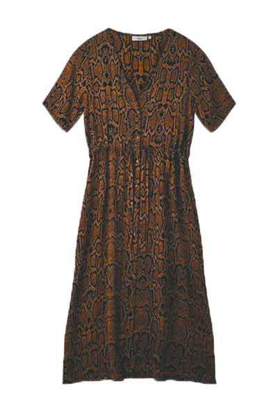 Biola Dress Tobacco Brown brun kjole Minimum 4