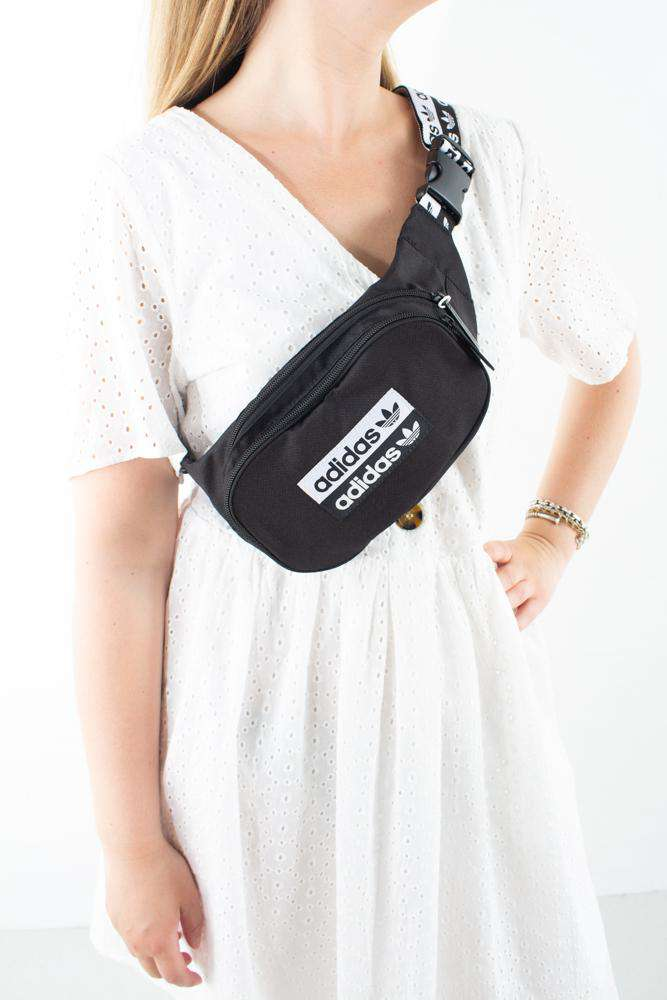 Waistbag - Black/white - Adidas - Sort One Size