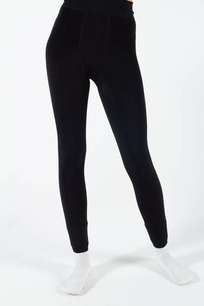Charlotte Fleece Leggings  - Black - irréel