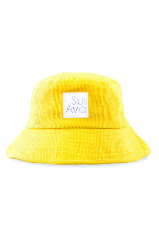 Christina Corduroy Buckethat - Yellow - Sui Ava
