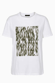 Cleo Camou Tee - Deep forest - Camou Artwork - Bruuns Bazaar