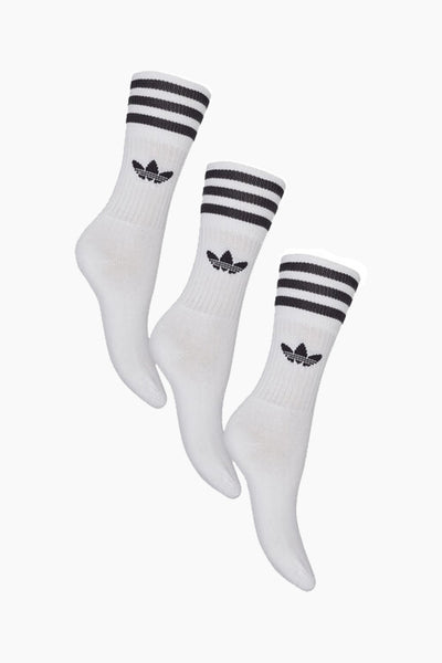 Solid Crew Socks - White - Adidas