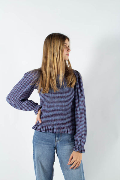 Danima long sleeved blouse  - Azur Blue - Moves