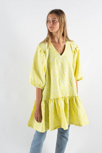 Destilla Dress - Yellow Flower - Mads Nørgaard
