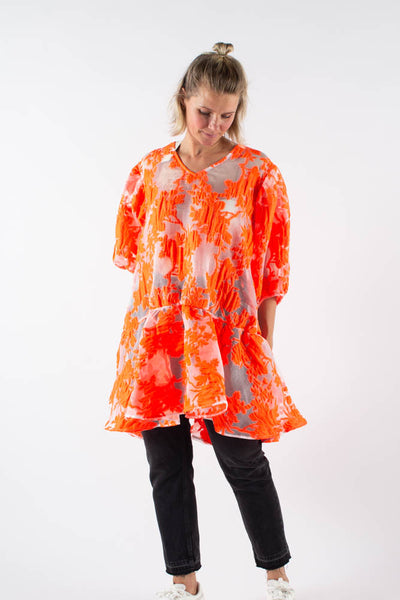 Dreamy Garden Desty Dress - Neon Orange - Mads Nørgaard