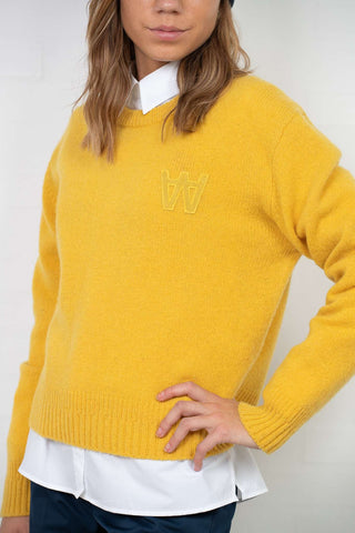 Anneli Sweater - Mustard fra Wood Wood - front