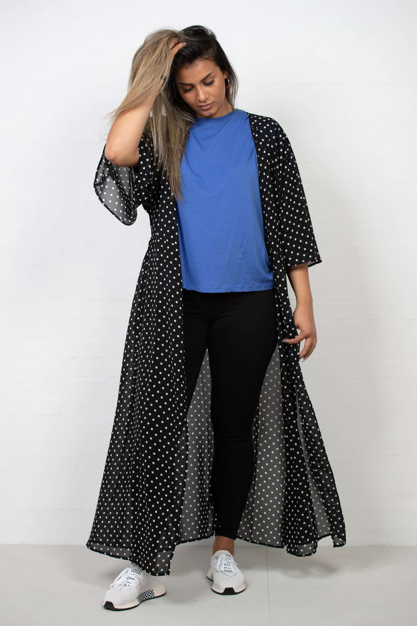 Chiffon Coat Dress Dot - NA-KD - Sort XXS/XS