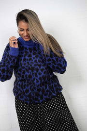Oversized Leo Sweater - blue - NA-KD