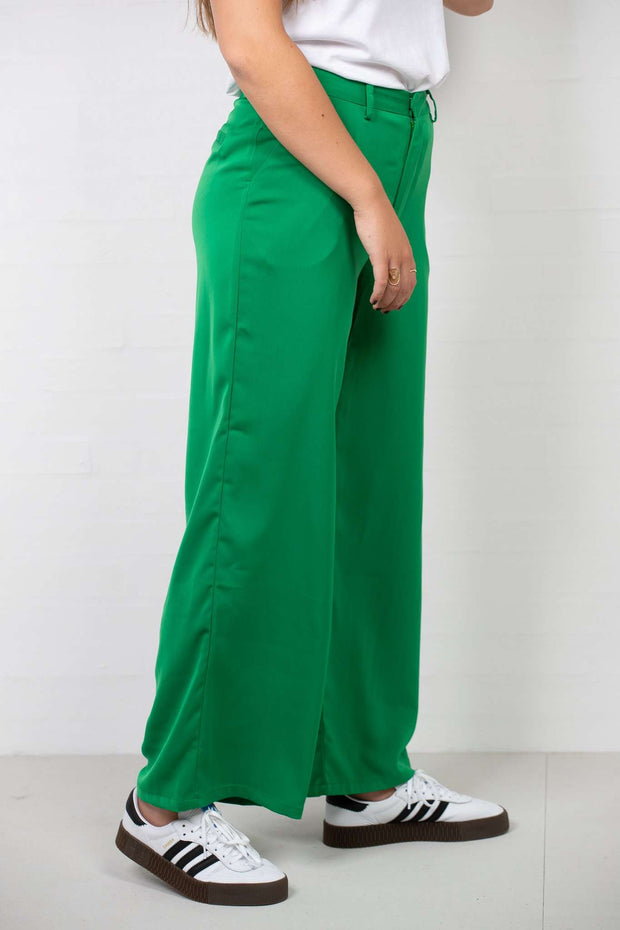 Flared Shiny Suit Pants Green fra NA-KD - 2