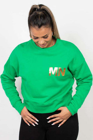 Organic Sweat Tilvina p B - Green/Gold