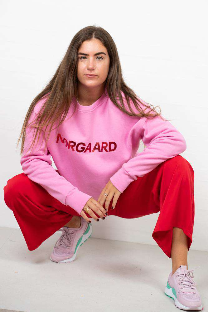 Organic Sweat Tilvina p C - Pink/Red - Pink/Rød XL
