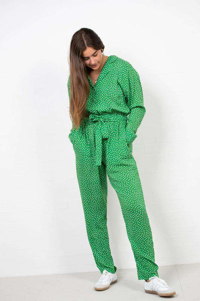 Viscose Play Cenata Cuff Pant Suit - Greendot fra Mads Nørgaard 2
