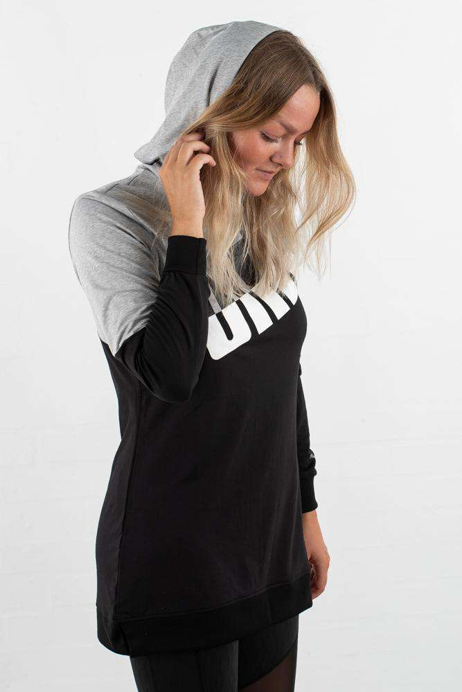 Image of   A.C.E. Blocked Hoodie - Lyse grå - Sort L