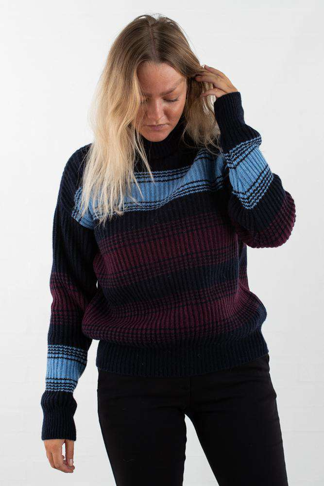 Felice Sweater - Navy Stripe - Navy Stripe XS