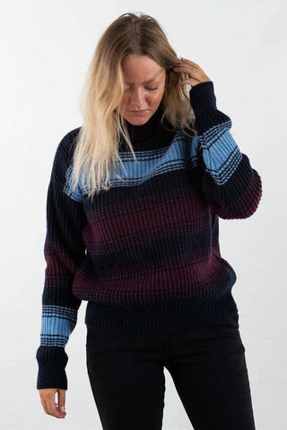 Felice Sweater - Navy Stripe fra Wood Wood - front