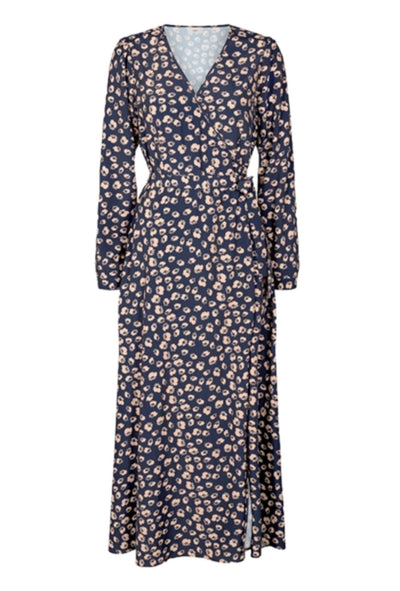 Elastica LS Dress Navy Blazer blå blomstret Minimum