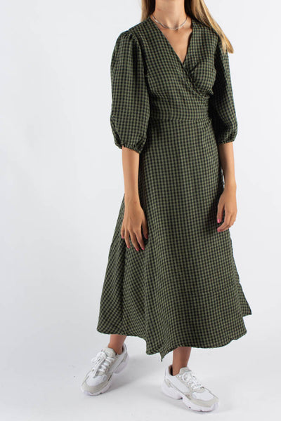 Elmina Midi Dress - Dark Olive - Minimum