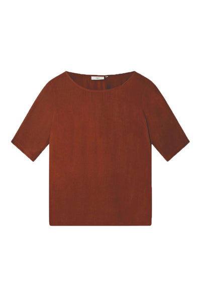 Elvire T-shirt Potting Soil brun Minimum 3