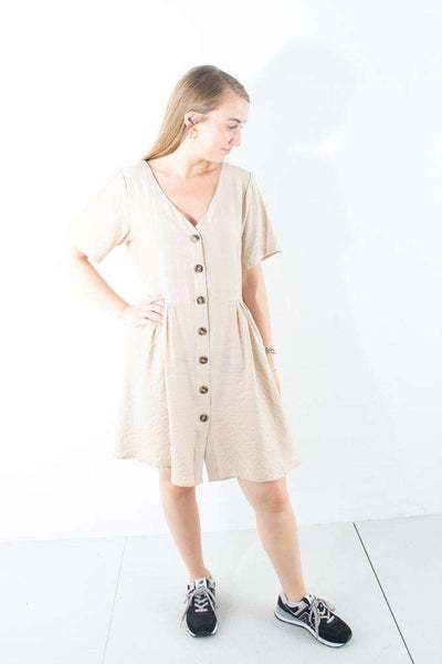 Evalia Dress Cobblestone Moves by Minimum kjole sand
