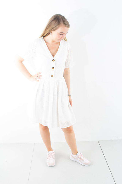 Evalia Dress - White - Moves by Minimum