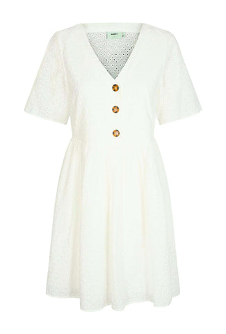 Evalia Dress White hvid kjole Moves by Minimum