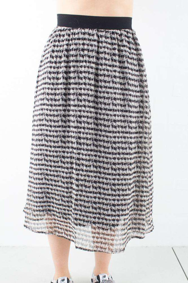 Feather Violet Skirt - Black - Bruuns Bazaar