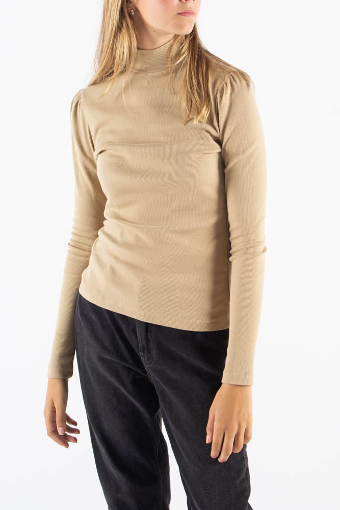 Fienna Long Sleeved T-shirt - Cocoon - Moves - Camel L