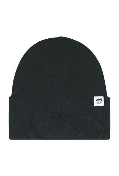 Gerald Tall Beanie - Sort - Wood Wood