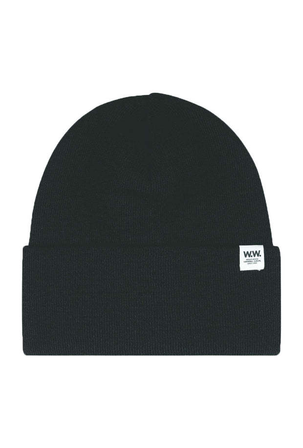 Gerald Tall Beanie Black sort hue Wood Wood 2