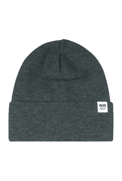 Gerald Tall Beanie - Grey Melange - Wood Wood