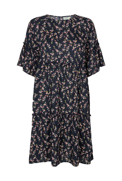 Giral Dress Navy blå blomstret kjole Moves by Minimum