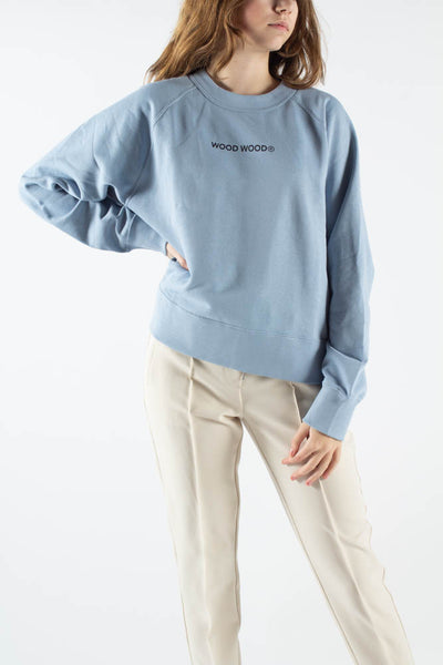 Hope Logo Sweatshirt - Dusty Blue - Wood Wood