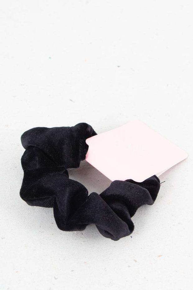 Small Velour Hair Elastic - Black