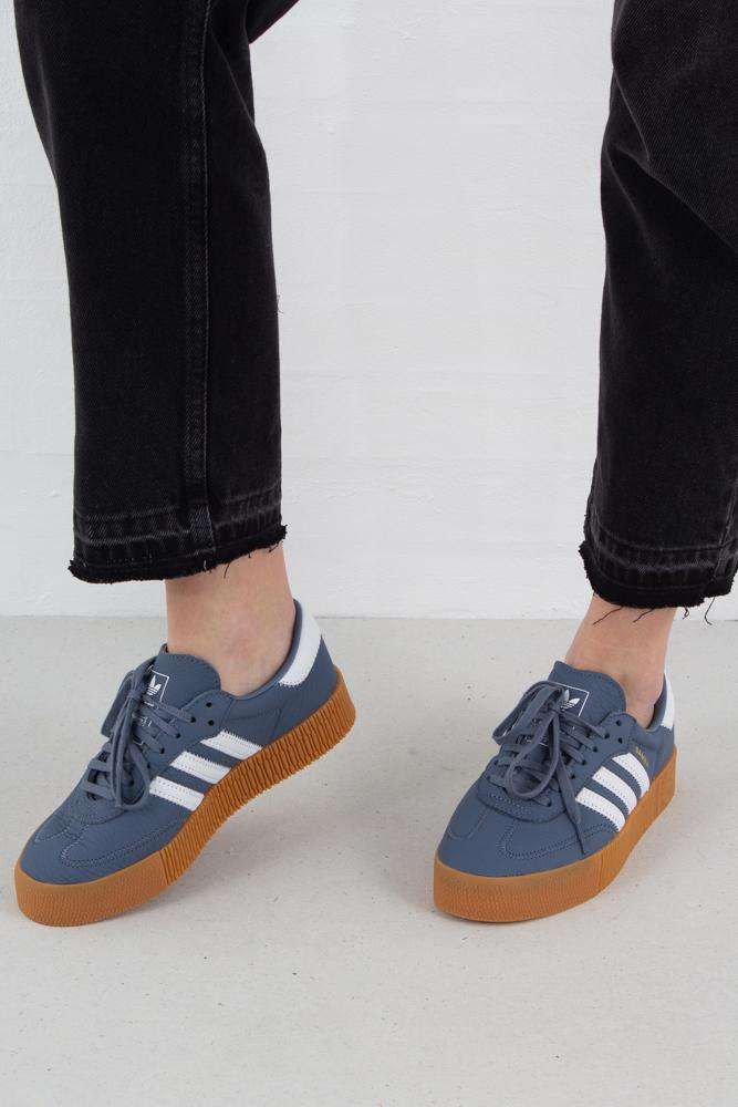 Sambarose - Raw Steel/White - Adidas Originals - Blå 36
