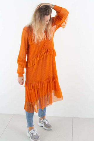 Orange Katelyn Dress fra Résumé - forfra