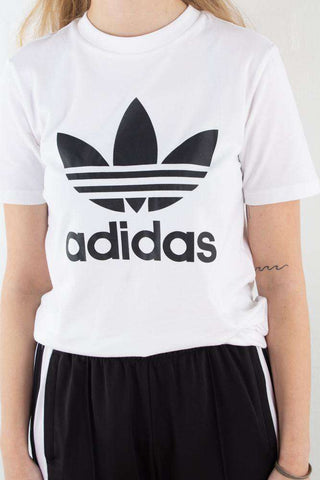 Trefoil Tee - White/Black fra Adidas Originals