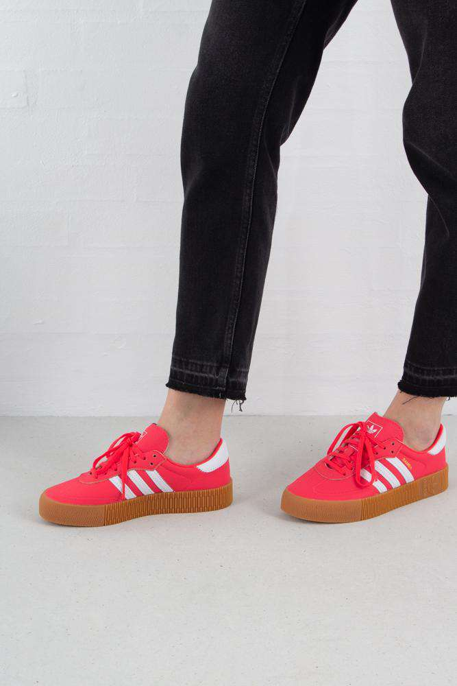 Sambarose - Shock Red/White - Adidas Originals - Rød 36