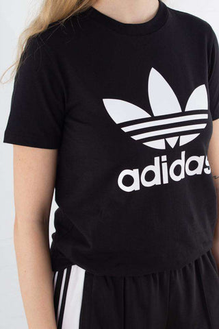 Trefoil Tee - Black/white fra Adidas Originals